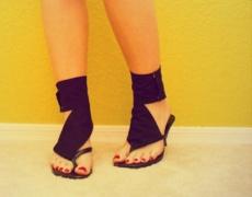 Уникални сандали от стари чехли! Супер лесно!
