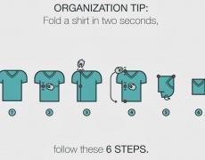 Супер трик! Как да сгъваме дрехите си за по-малко от 2 секунди?