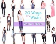 20 оригинални начина да разнообразите бялата тениска