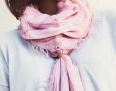 3 идеи как да украсите шала с пръстен