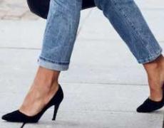 Как да изглеждаме зашеметяващо с дънки и обувки на висок ток