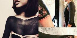Гореща тенденция: татуировки на черен фон