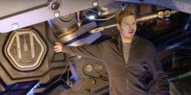 Крис Прат показва снимачната площадка на Пазители на галактиката