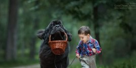 Малки деца с големите им кучета