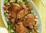 Пиле с балсамов оцет, медена глазура и салата от рукола