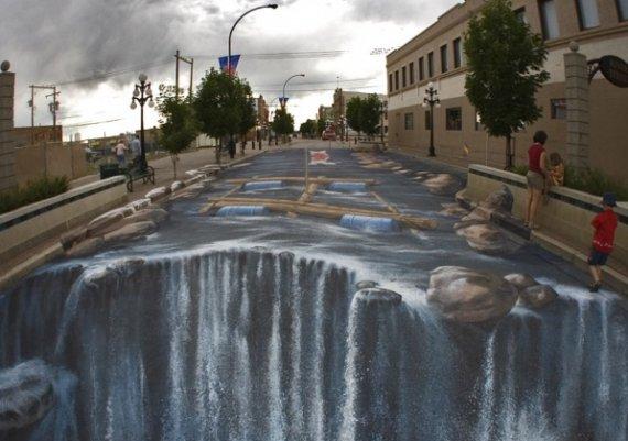 3D рисунки върху асфалт