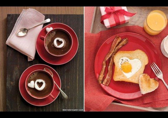 Сервирайте му  валентинска закуска