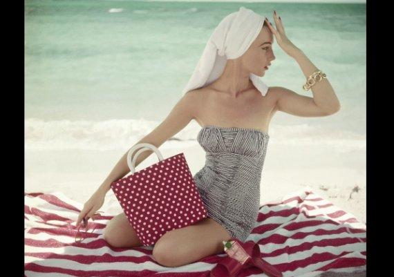 Винтидж вълна на плажа