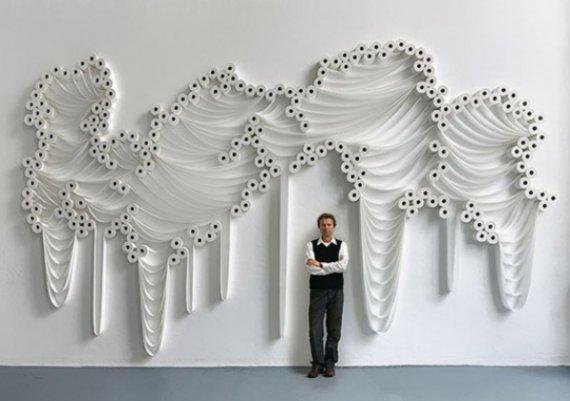 Изумително! Декорация от тоалетна хартия