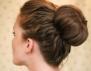 Бърз кок с гъба за коса (видео)