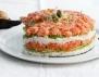 Суши торта с краставица, авокадо и сьомга