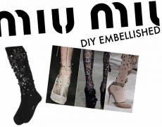 DIY: Дълги чорапи с пайети