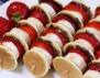 Шишчета с плодове, мини палачинки и шоколад