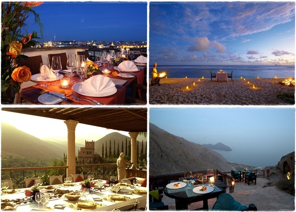 9 места по света, идеални за романтична вечеря