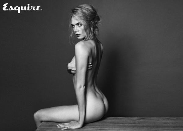 Кара Делевин в гола фотосесия за Esquire