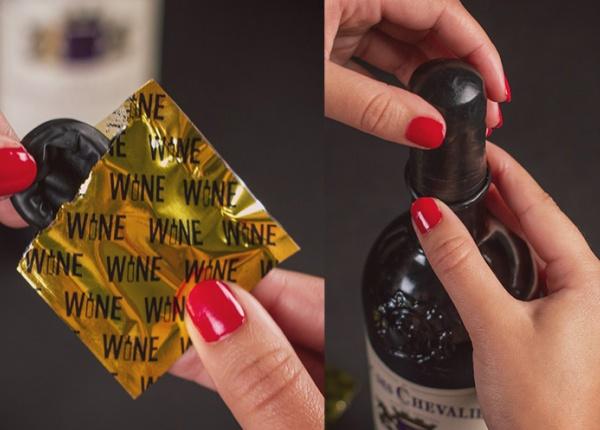 Перфектният подарък за любителите на вино – презервативи за вино