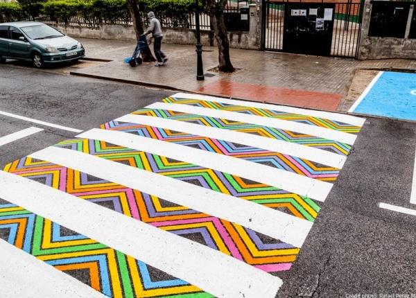 Български артист преобрази пешеходните пътеки в Мадрид