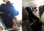 Жена практикува йога по време на полет