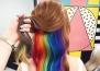 Нов тренд - коса в цветовете на дъгата