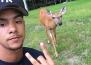 Мъж се сприятелява със семейство елени