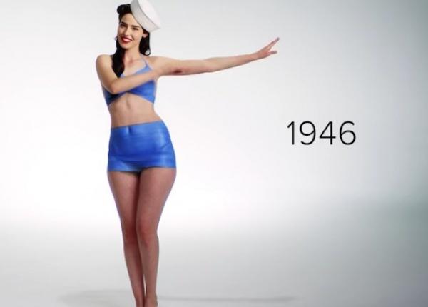 Еволюцията на женския бански костюм през последните 100 години