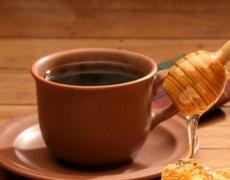 Кафе с мед. И сладолед