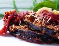 Рецепта за патладжан със сирене и червен пипер на фурна