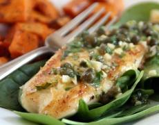 Рецепта за бяла риба със спанак