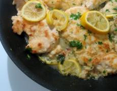 Лимоново пиле по гръцки