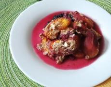 Рецепта за печени праскови с бадеми