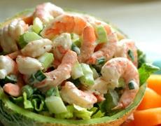 Рецепта за салата с пъпеш и скариди