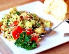 Рецепта за салата с кускус, портокал и грейпфрут