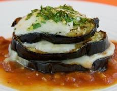 Рецепта за патладжан с моцарела в доматен сос