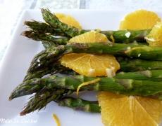 Рецепта за аспержи с портокалов сос