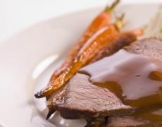 Рецепта за телешко с портокалово-конячен сос