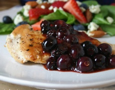 Рецепта за пиле с боровинков сос