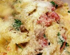 """Рецепта за паста """"Фарфале"""" с домати и Пармиджано"""
