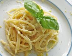 Спагети с лимон и Пармезан