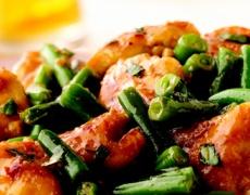 Пиле със зелен фасул по арабски
