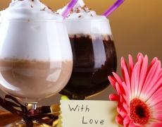 Шоколадов шейк с кафе